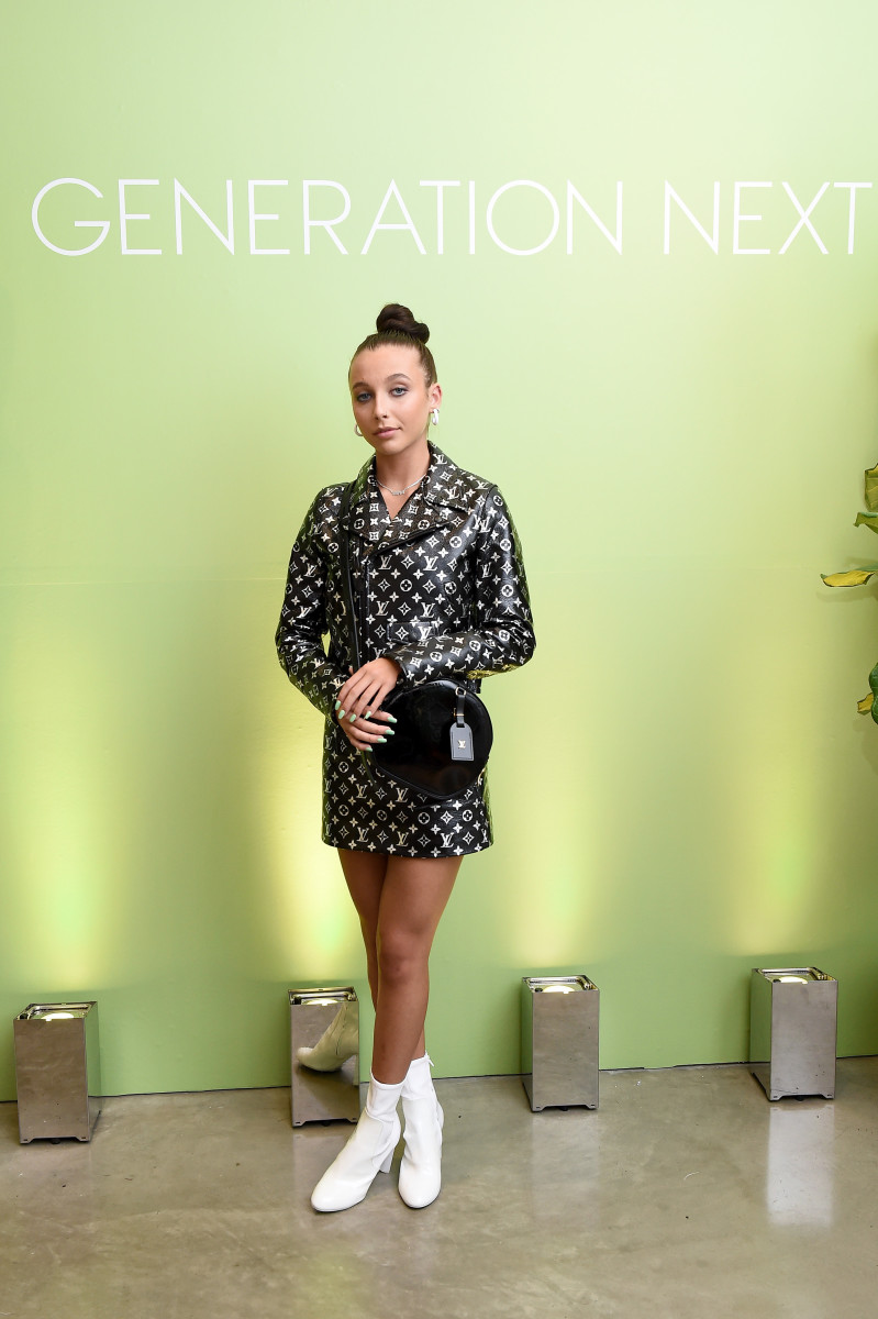 Emma Chamberlain in Louis Vuitton at the Teen Vogue Generation Next party. Photo: Ilya S. Savenok/Getty Images