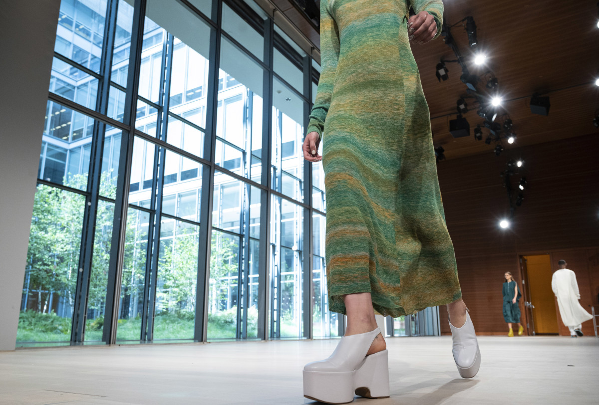 Shoes on the runway at Tibi's Spring 2020 show. Photo: Peter White/WireImage