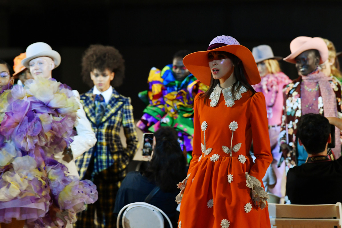 Looks from the Marc Jacobs Spring 2020 collection. Photo: Slaven Vlasic/Getty Images for Marc Jacobs