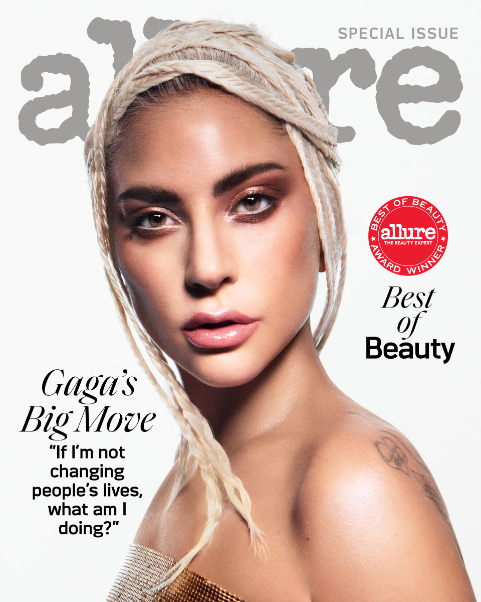 """Lady Gaga on the October 2019 Cover of """"Allure."""" Photo: Daniel Jackson for """"Allure"""""""