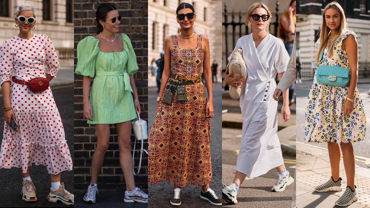 On the street at London Fashion Week Spring 2020. Photos: Chiara Marina Grioni/Fashionista, Imaxtree (4)