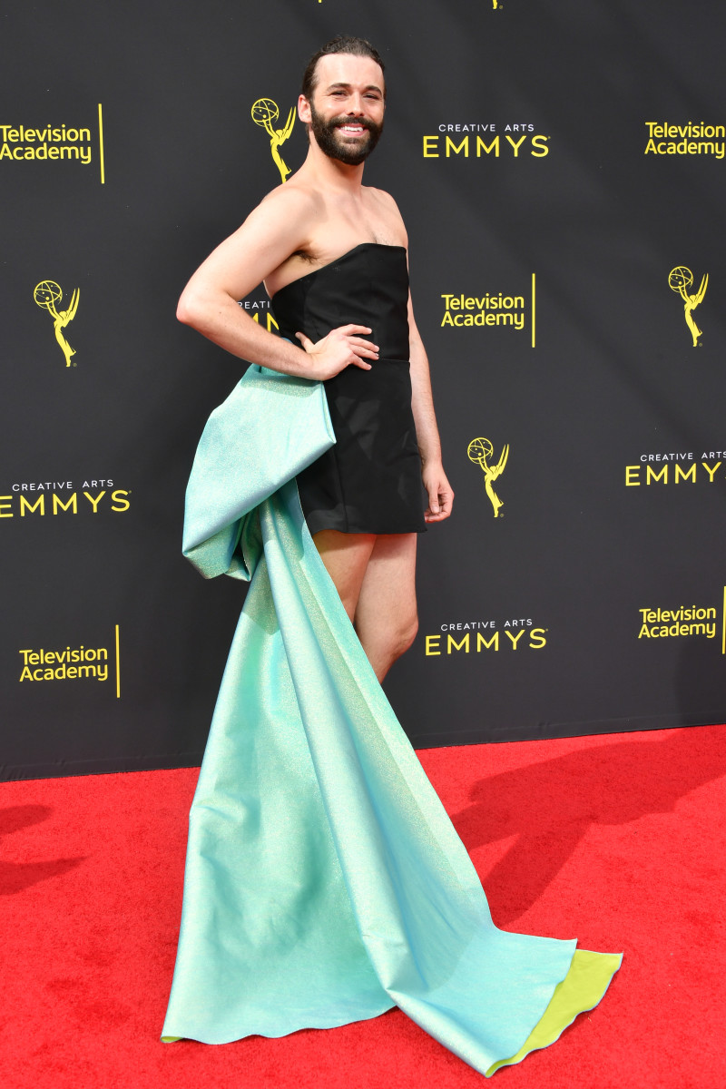 Jonathan Van Ness in custom Christian Siriano at the 2019 Creative Arts Emmy Awards. Photo: Amy Sussman/Getty Images