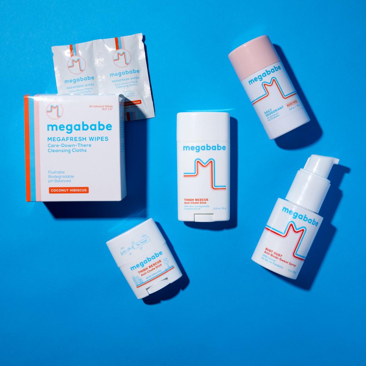 A selection of Megababe products. Photo: Courtesy of Megababe