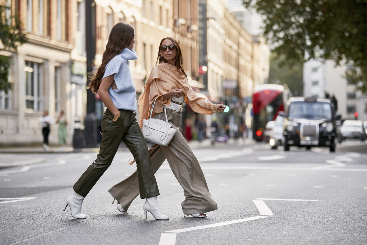 On the street at London Fashion Week Spring 2020. Photo: Imaxtree