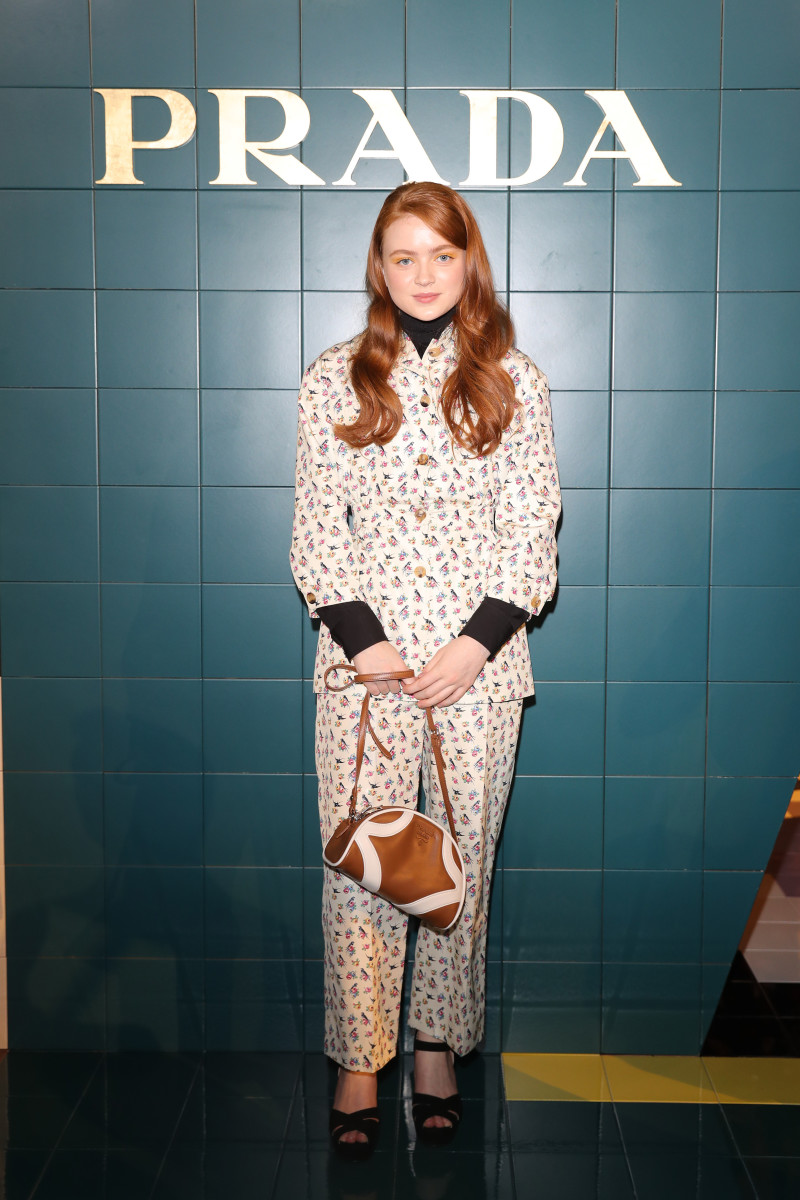 Actress Sadie Sink at Prada's Spring 2020 show in Milan. Photo: Vittorio Zunino/Getty Images