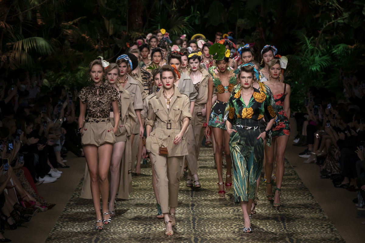 Looks from the Dolce & Gabbana Spring 2020 collection. Photo: Imaxtree