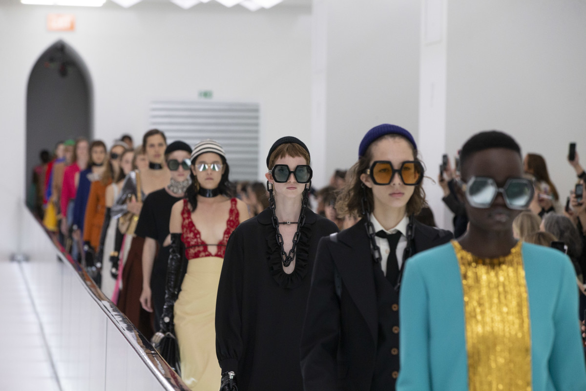 Looks from Gucci's Spring 2020 collection. Photo: Dan Lecca/Gucci