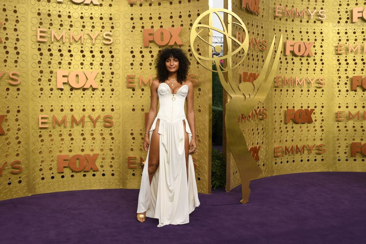 Indya Moore in Louis Vuitton at the 71st Emmy Awards in Los Angeles, California. Photo: Valerie Macon/AFP/Getty Images