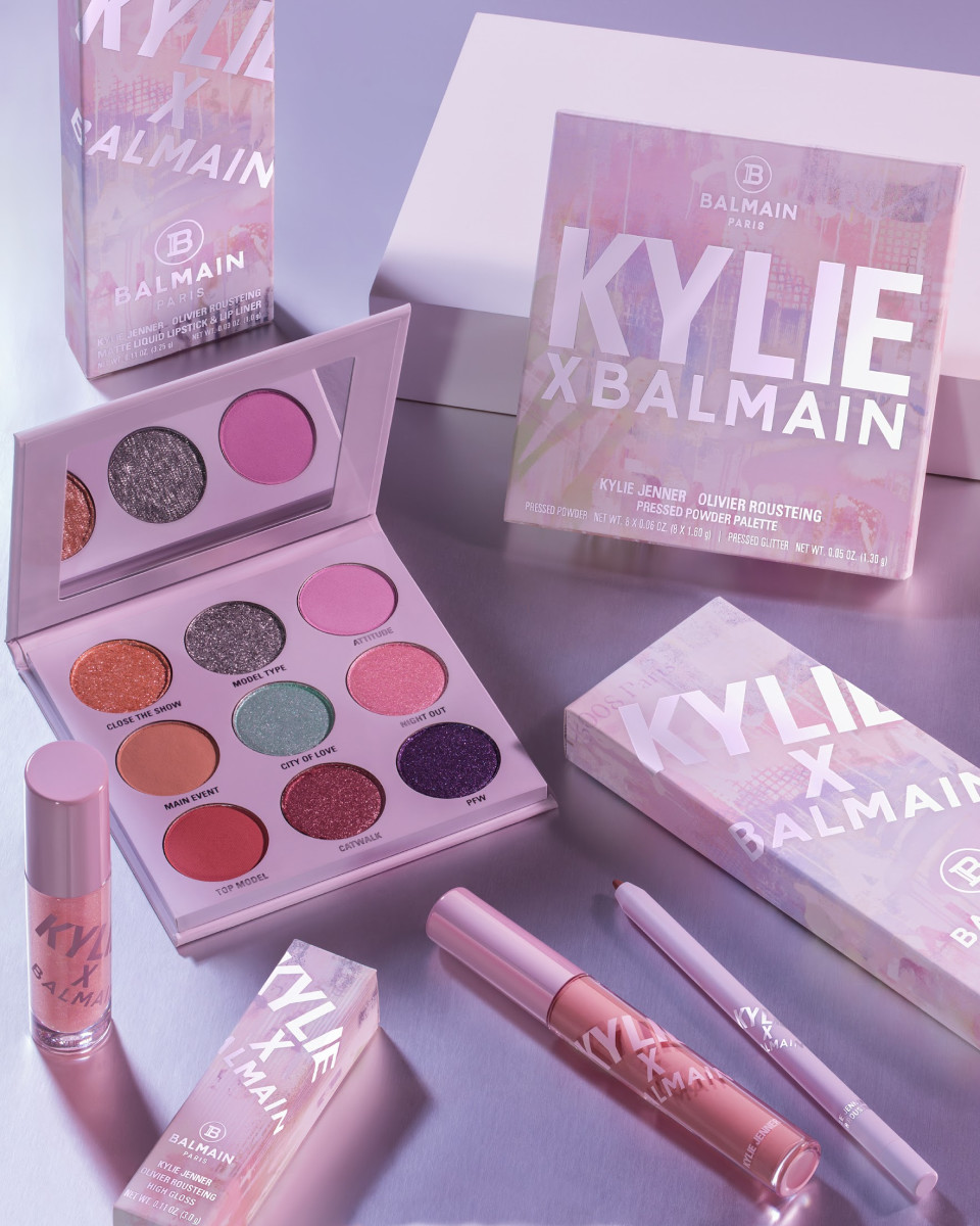 The Kylie Cosmetics x Balmain collection. Photo: Courtesy of Kylie Cosmetics