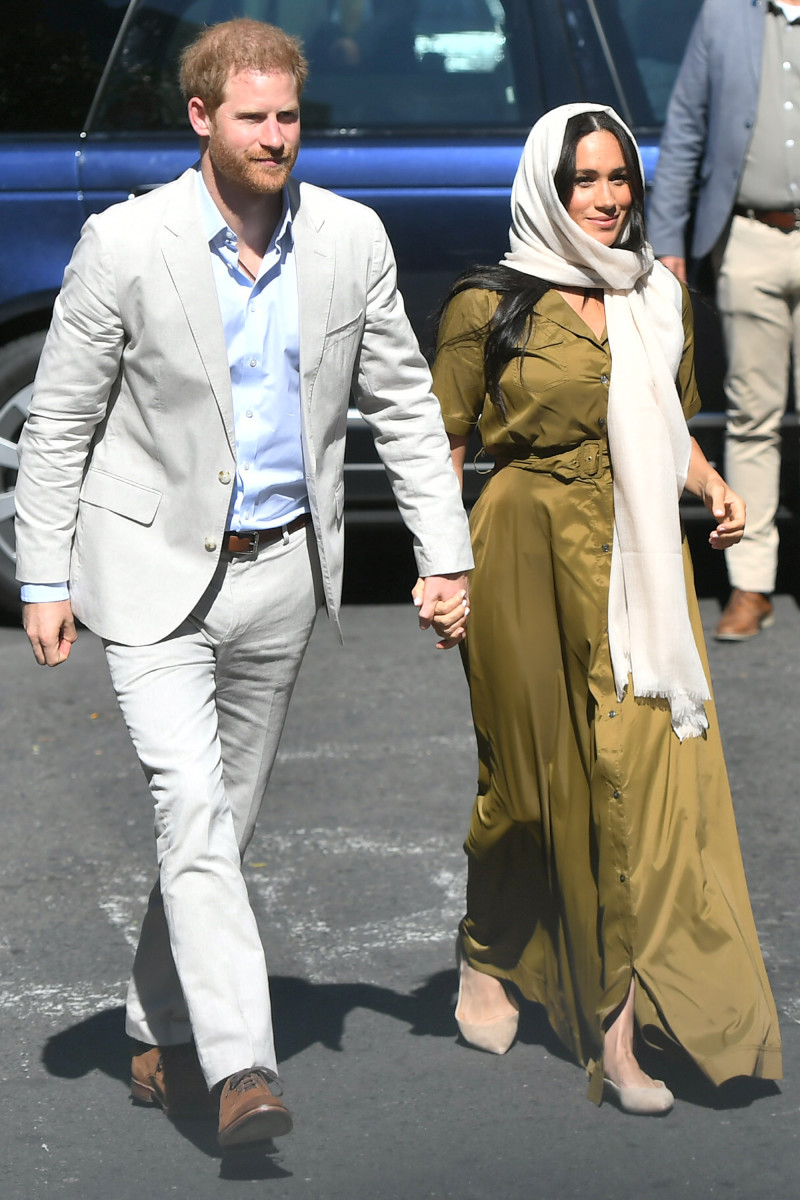 Meghan, Duchess of Sussex and Prince Harry, Duke of Sussex visit Auwal Mosque in Cape Town, South Africa. Photo: Samir Hussein/WireImage