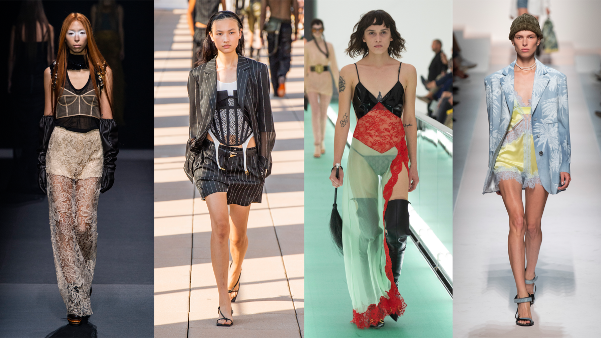 L-R: Vera Wang, Dion Lee, Gucci and Ermanno Scervino. Photos: Imaxtree