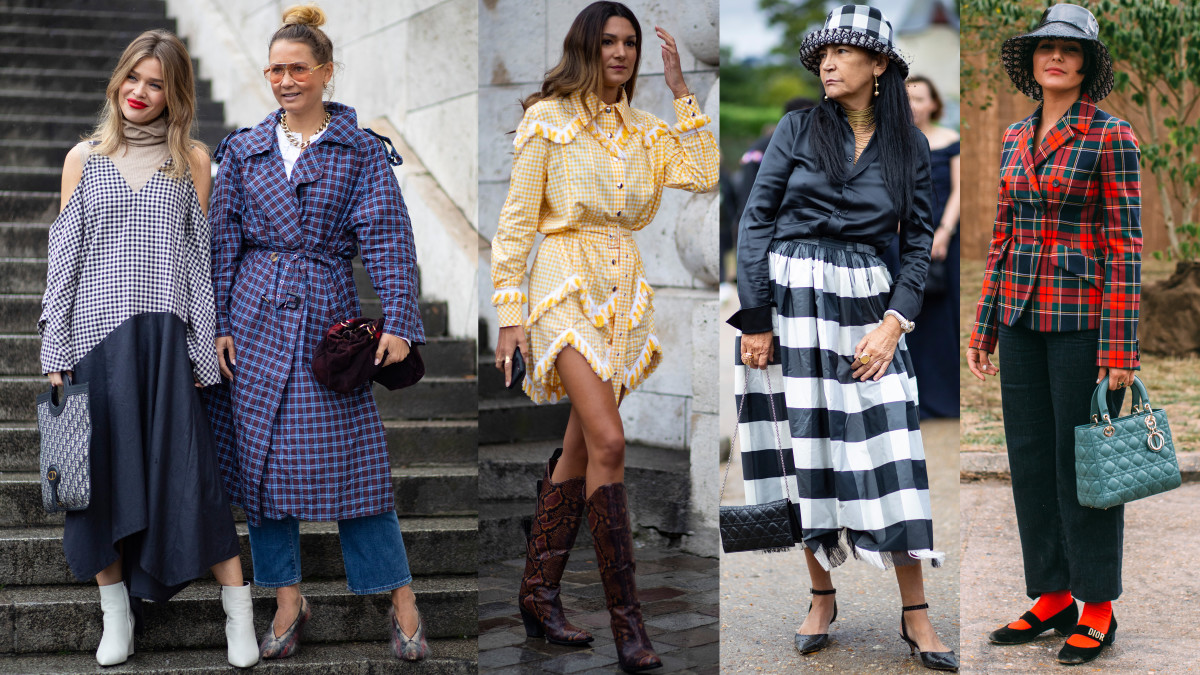 When Is Paris Fashion Week 2020.Plaid And Gingham Prints Took Over The Street Style Crowd On