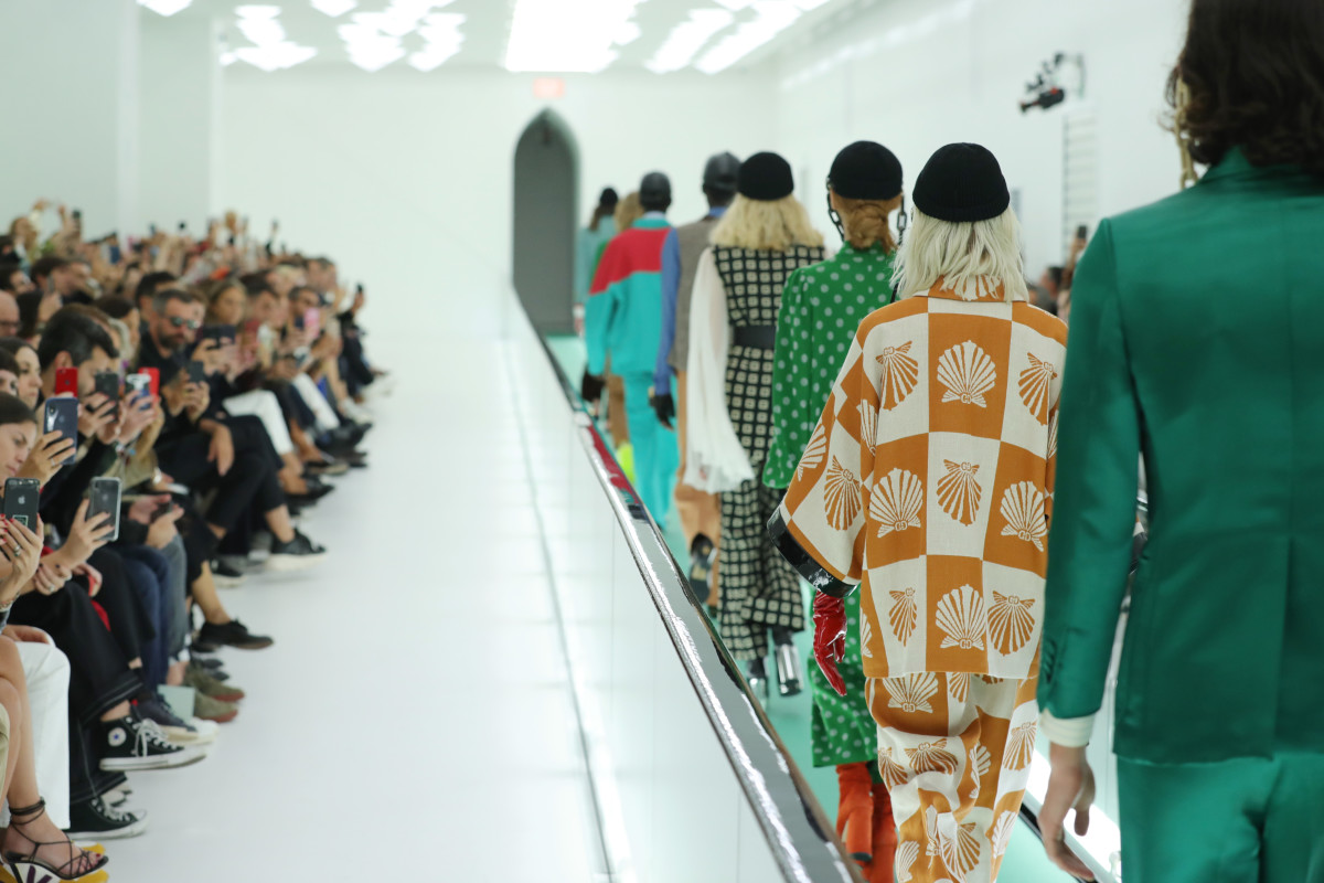 "A scene from Gucci's ""carbon neutral"" runway show in Milan this season. Photo: Vittorio Zunino Celotto/Getty Images"