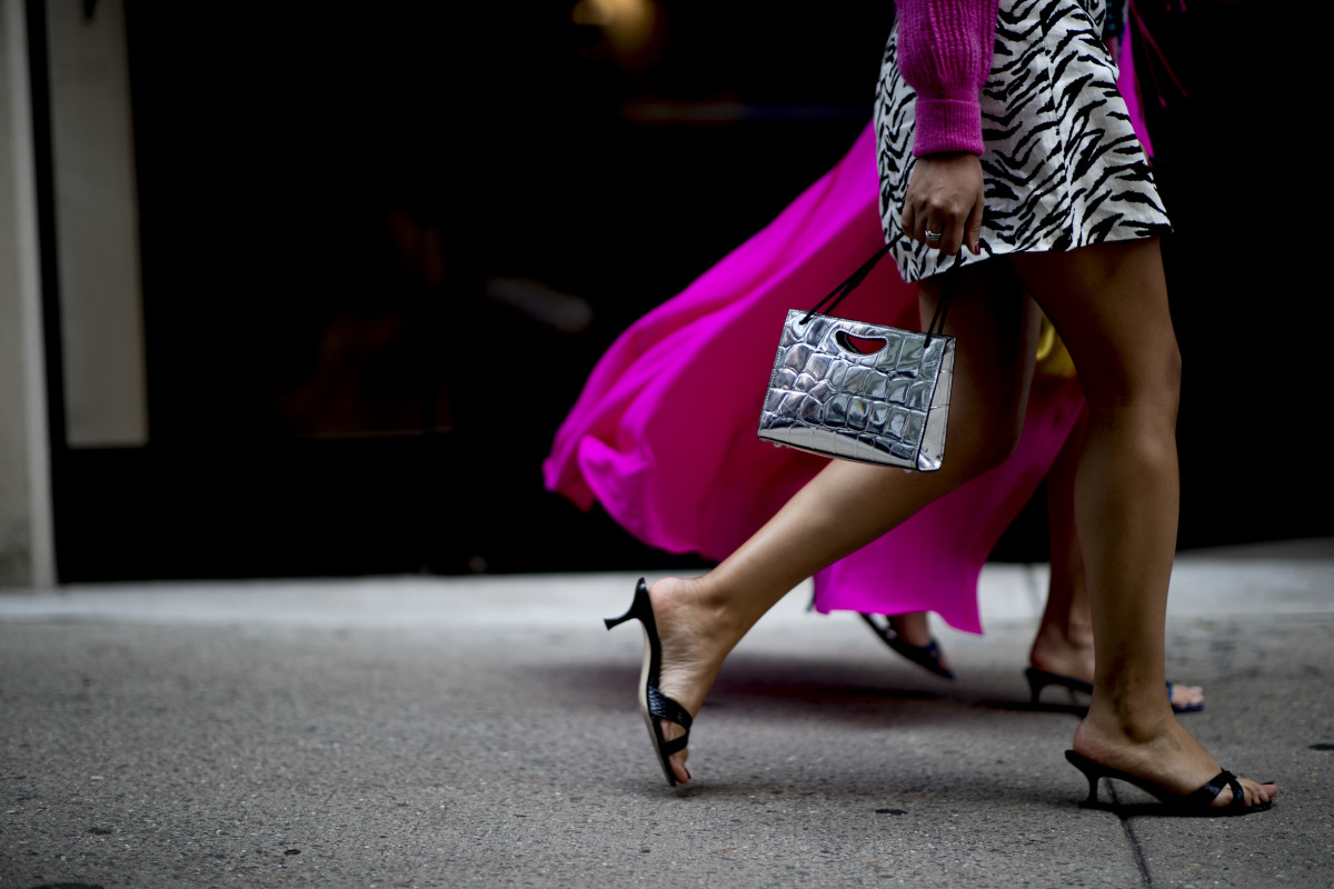 On the street at New York Fashion Week's Spring 2020 season. Photo: Imaxtree