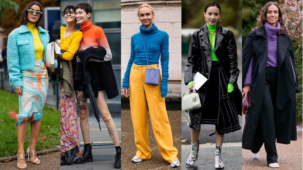 On the street at Paris Fashion Week Spring 2020. Photos: Imaxtree (2); Chiara Marina Grioni/Fashionista (3)