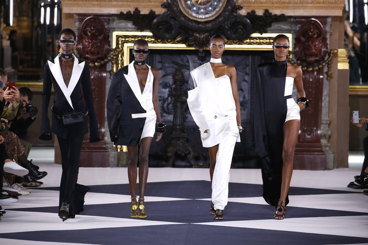 Looks from the Balmain Spring 2020 collection. Photo: Estrop/Contributor/Getty Images Europe