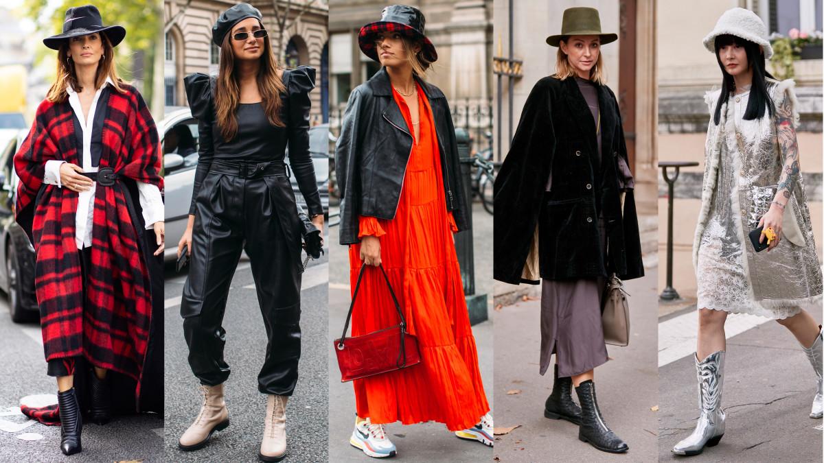 On the street at Paris Fashion Week Spring 2020. Photos: Chiara Marina Grioni; Imaxtree (4)