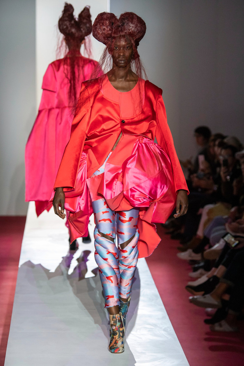 A look from the Comme des Garçons Spring 2020 collection. Photo: Imaxtree