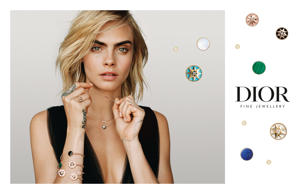 An image from Cara Delevingne's debut Dior Joaillerie campaign. Photo: Courtesy of Dior