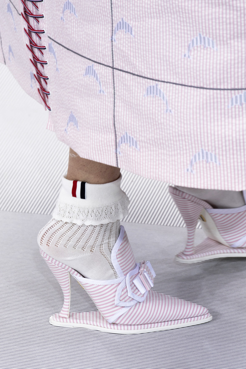 Shoes from the Thom Browne Spring 2020 collection. Photo: Imaxtree