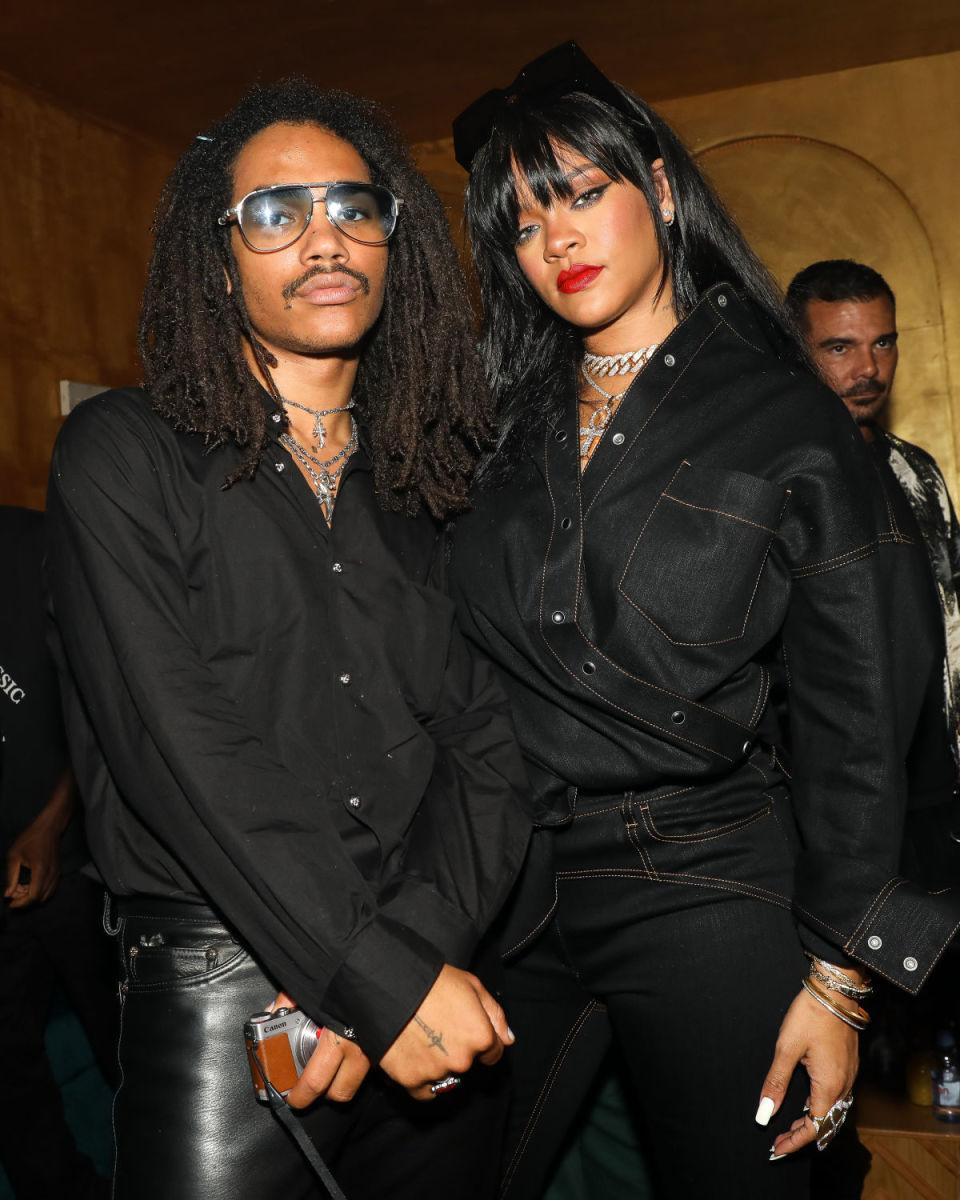 Luka Sabbat and Rihanna at the Fenty afterparty at 1 OAK's Paris Fashion Week pop-up. Photo: BFA