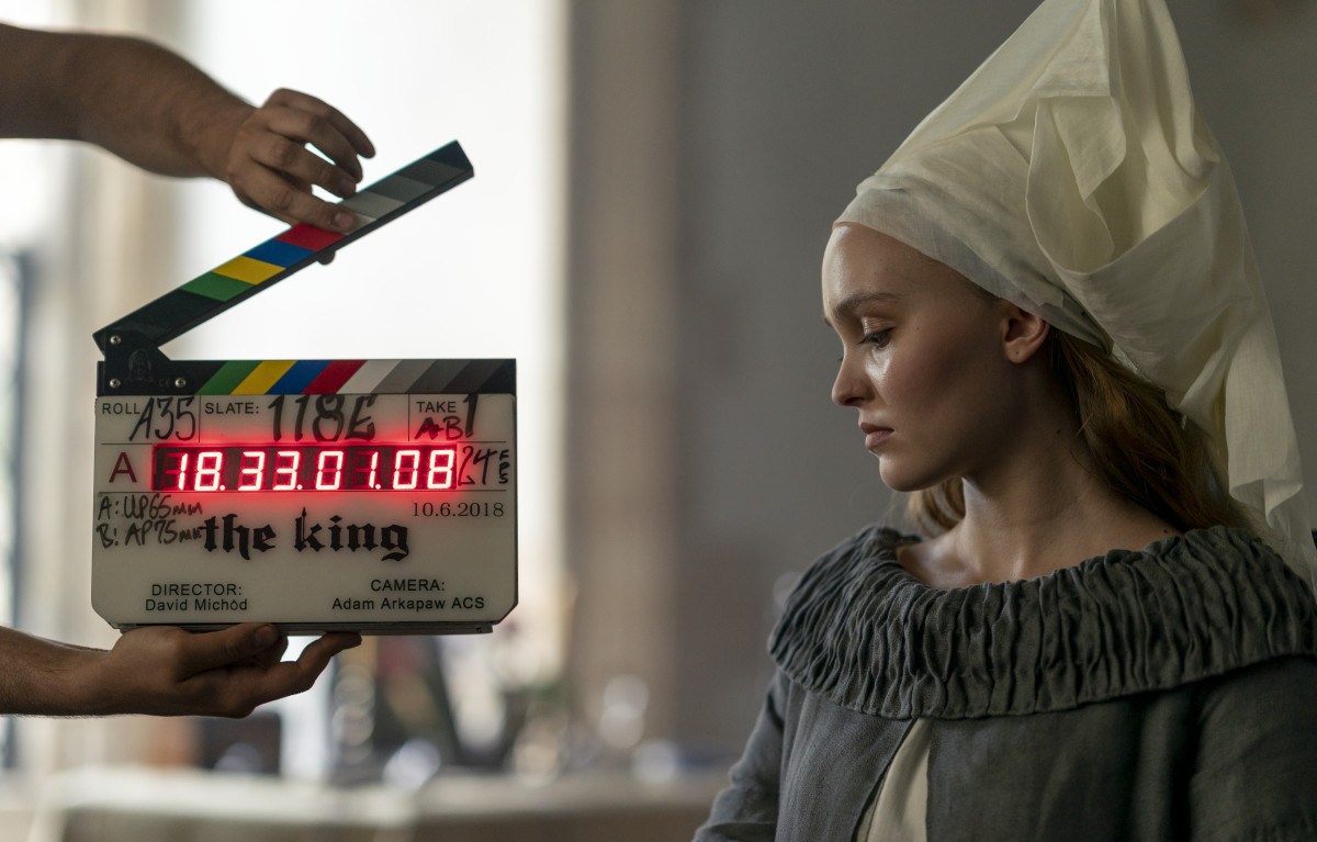 Catherine of Valois (Lily-Rose Depp). Photo: Peter Mountain/Courtesy of Netflix