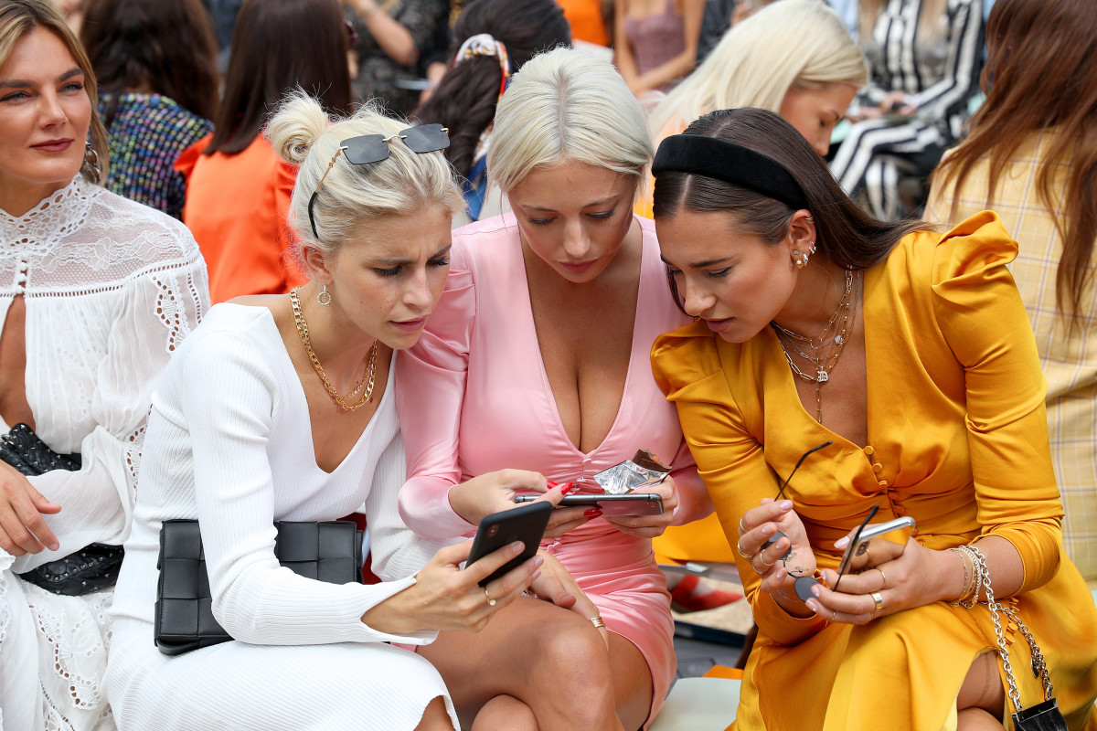 Danielle Bernstein of WeWoreWhat with fellow influencers. Photo: Bennett Raglin/Getty Images
