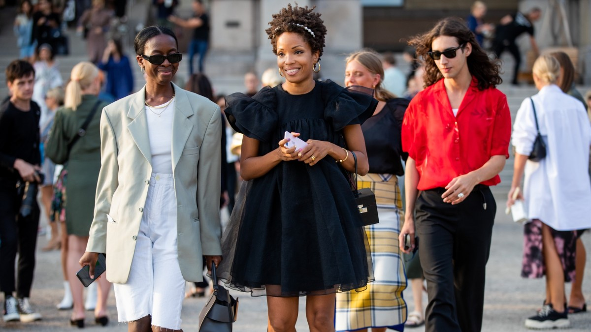 Guests at Copenhagen Fashion Week. Photo: Christian Vierig/Getty Images
