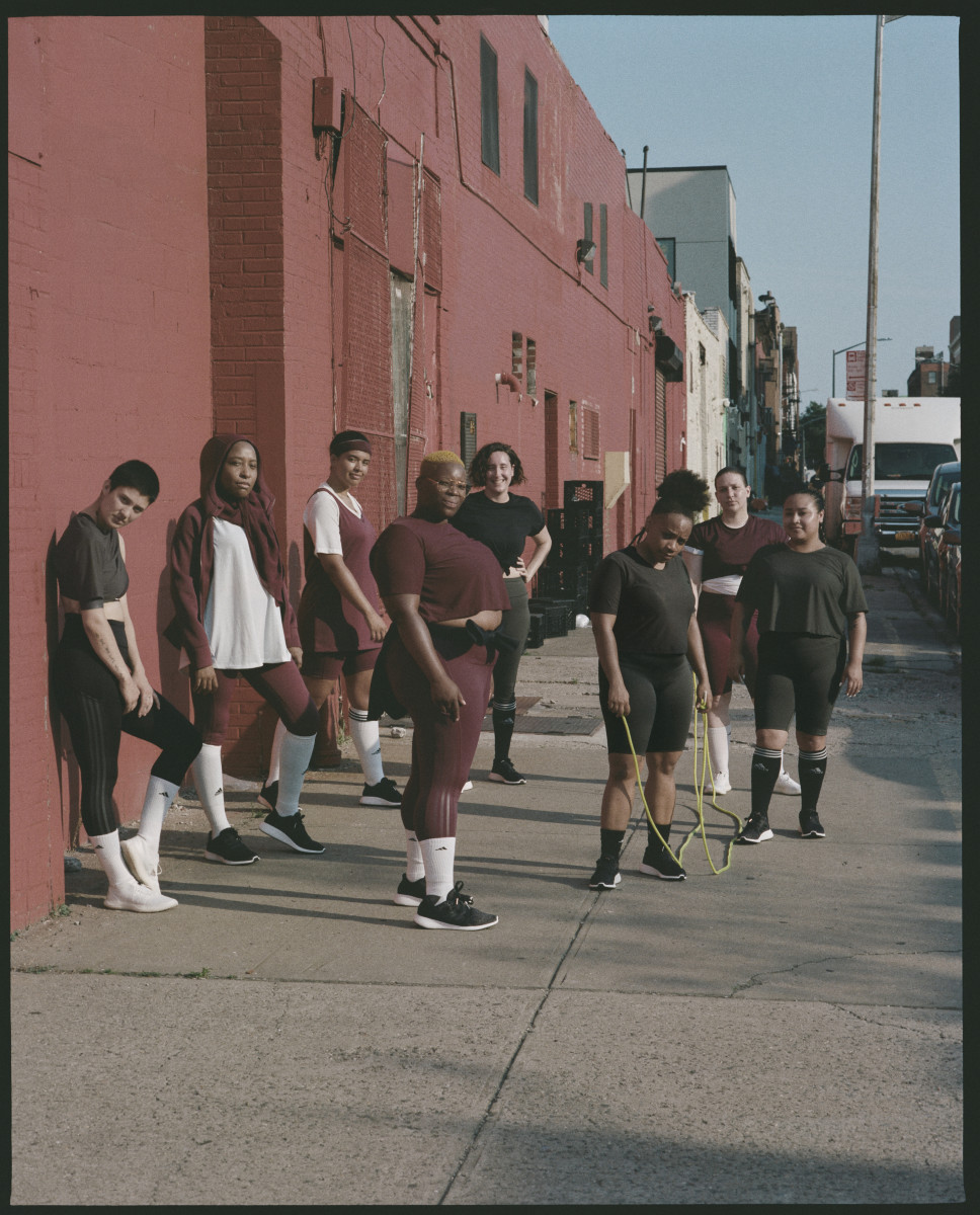 Imagery from the Adidas x Universal Standard campaign. Photo: Ronan Mckenzie/Courtesy of Universal Standard