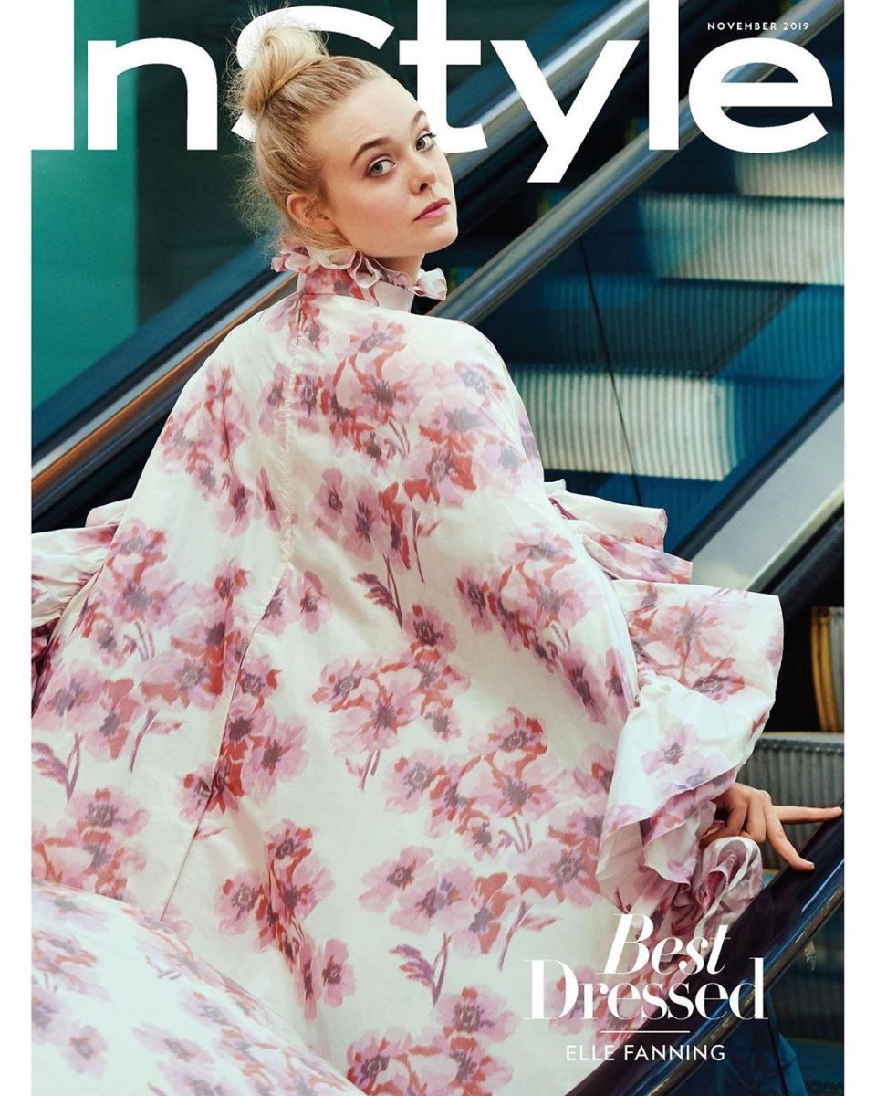 Elle Fanning on the November 2019 issue of 'InStyle.' Photo: Pamela Hanson