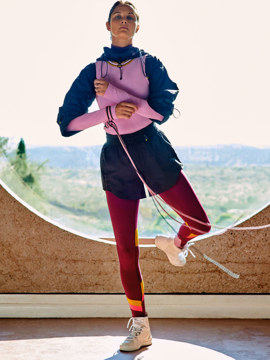 A look from the Lululemon x Roksanda collection. Photo: Courtesy of Lululemon