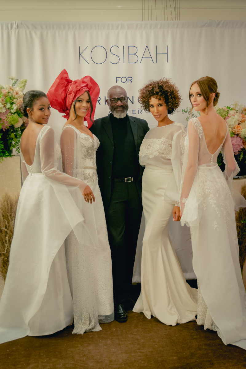Yemi Osunkoya (center) and his models at the Kosibah for Mark Ingram Atelier presentation. Photo: Tyre Twhaite/Courtesy of Kosibah