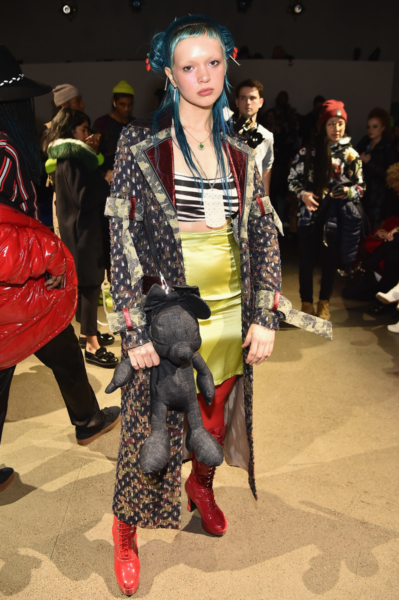 Liz Harlan at NYFW in February. Photo: Theo Wargo/Getty Images