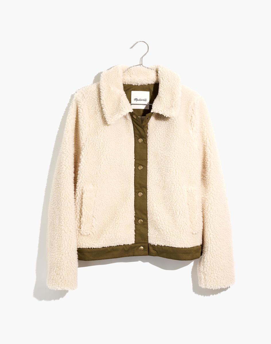 Madewell Sherpa Portland Jacket, $150, available here. Photo: Courtesy
