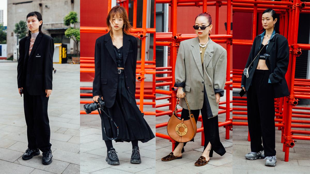 Blazers Were a Street Style Hit at Shanghai Fashion Week