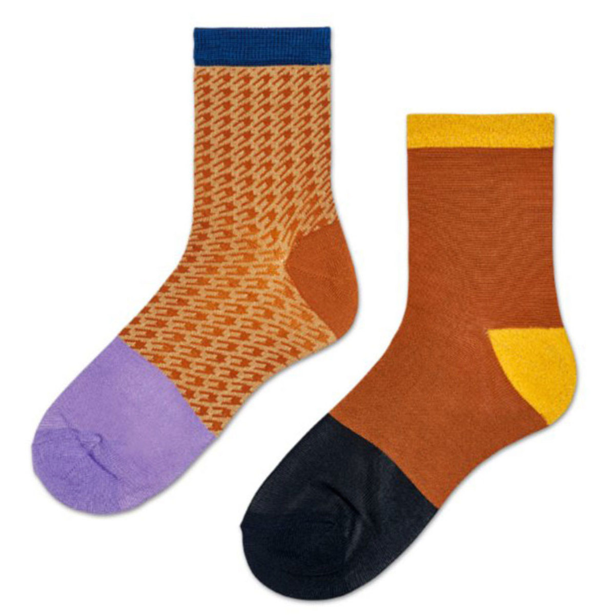 Hysteria by Happy Socks Hanna 2-Pack Colorblock Socks, $34, available here.