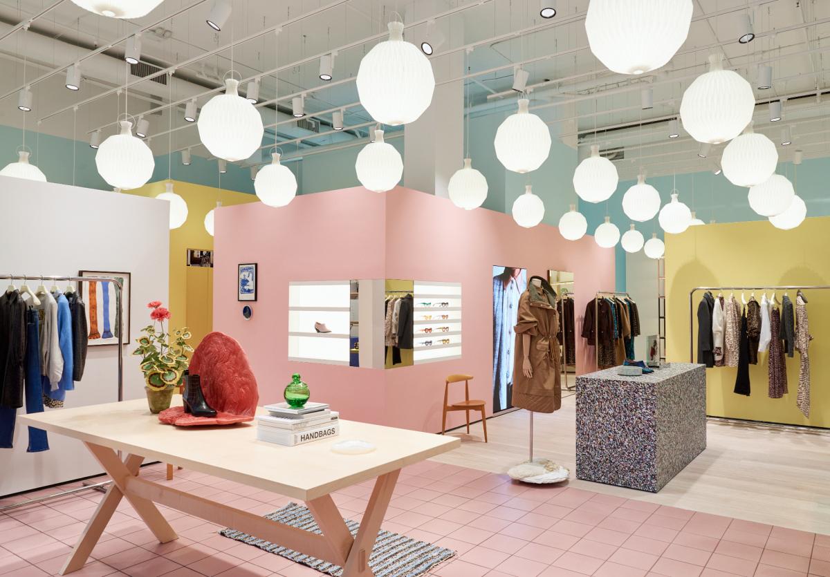 Inside Ganni's newest store. Photo: Courtesy of GANNI