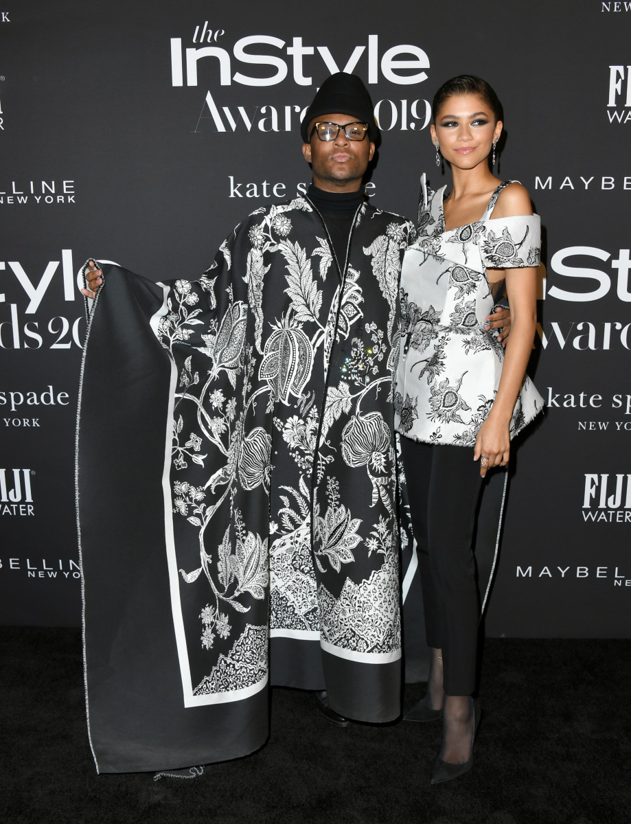 "Law Roach and Zendaya in Givenchy Haute Couture at the 2019 ""InStyle"" Awards. Photo: Jon Kopaloff/Getty Images"