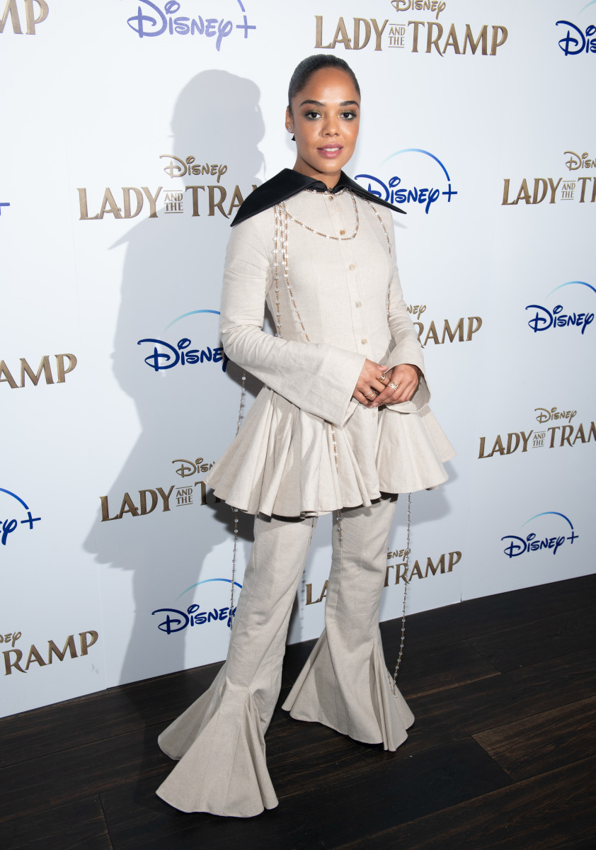 "Tessa Thompson at the Disney+ New York screening of ""Lady And The Tramp."" Photo: Noam Galai/Getty Images"
