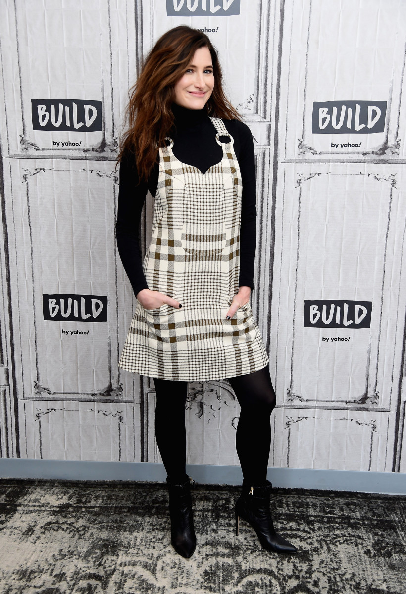 "Kathryn Hahn at Build Series to promote her HBO series, ""Mrs. Fletcher."" Photo: Gary Gershoff/Getty Images"