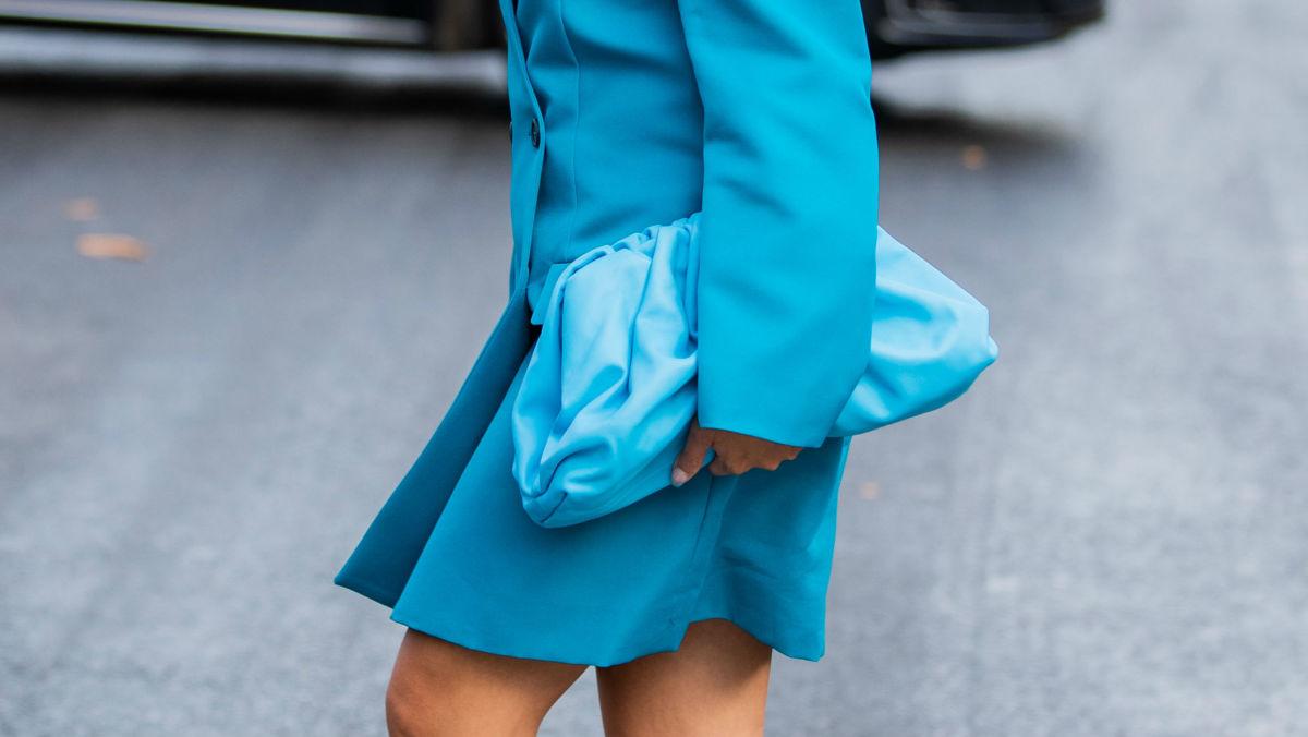 Bottega Veneta in street style at Paris Fashion Week. Photo: Christian Vierig/Getty Images