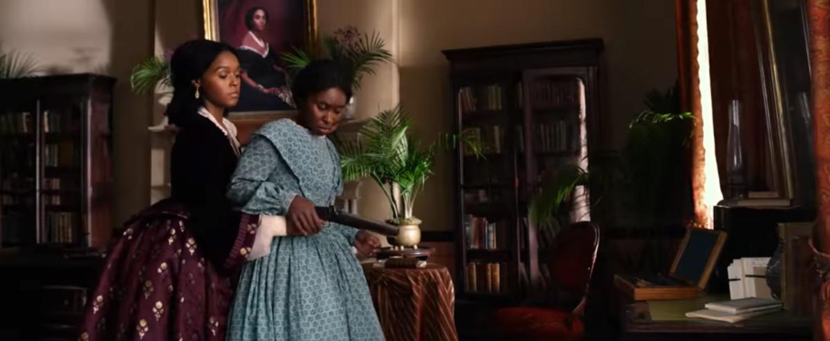 Janelle Monae as Marie Buchanon and Cynthia Erivo as Harriet Tubman in 'Harriet.' Photo: Screengrab/'Harriet'