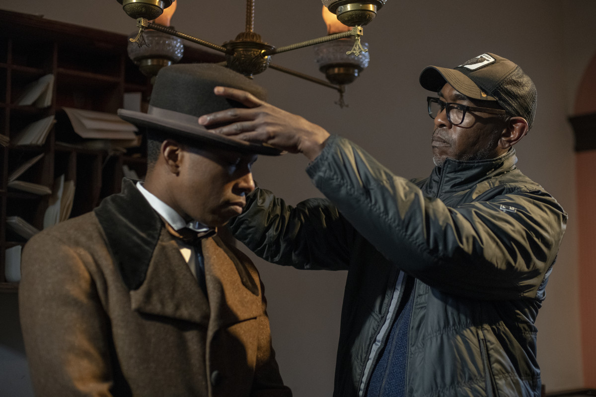 Leslie Odom Jr., as William Still, and Tazewell on the set of 'Harriet.' Photo:Glen Wilson/Courtesy of Focus Features