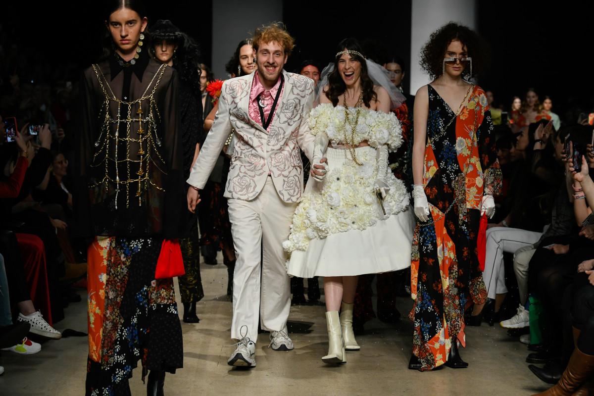 The finale at Roma Uvarov's fashion show. Photo: Ik Aldama/Courtesy of Roma Uvarov