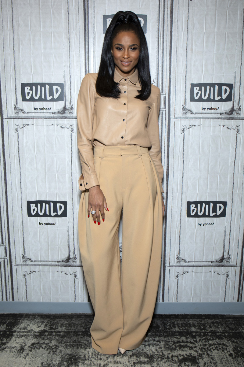 Ciara in Carmen March at Build Studio in New York City. Photo: Santiago Felipe/Getty Images
