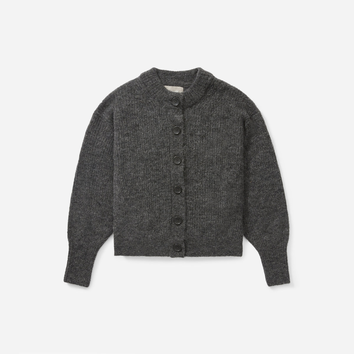 Everlane The Cropped Alpaca Cardigan, $100, available here.