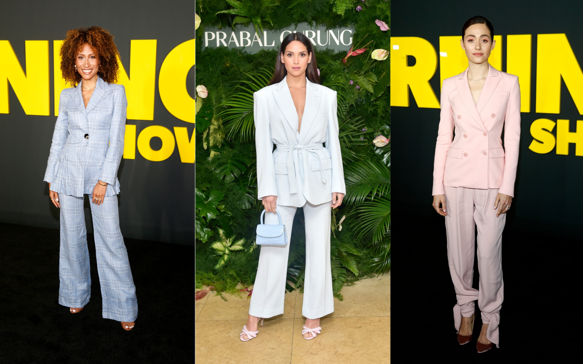 Elaine Welteroth, Adria Ajorna and Emmy Rossum. Photos: Getty Images
