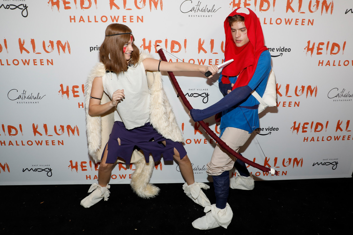 Barbara Palvin and Dylan Sprouse at Heidi Klum's Annual Halloween Party at Cathédrale. Photo: Taylor Hill/Getty Images