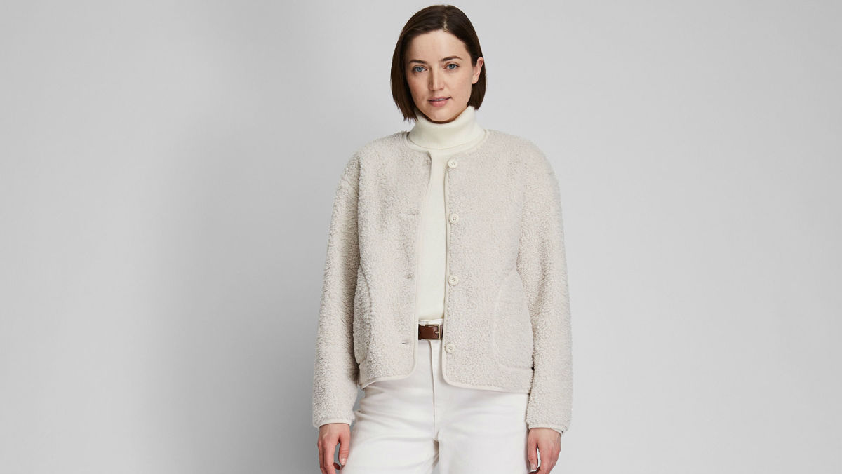 Uniqlo Pile-lined Fleece Crew Neck Cardigan, $39.90, available here.
