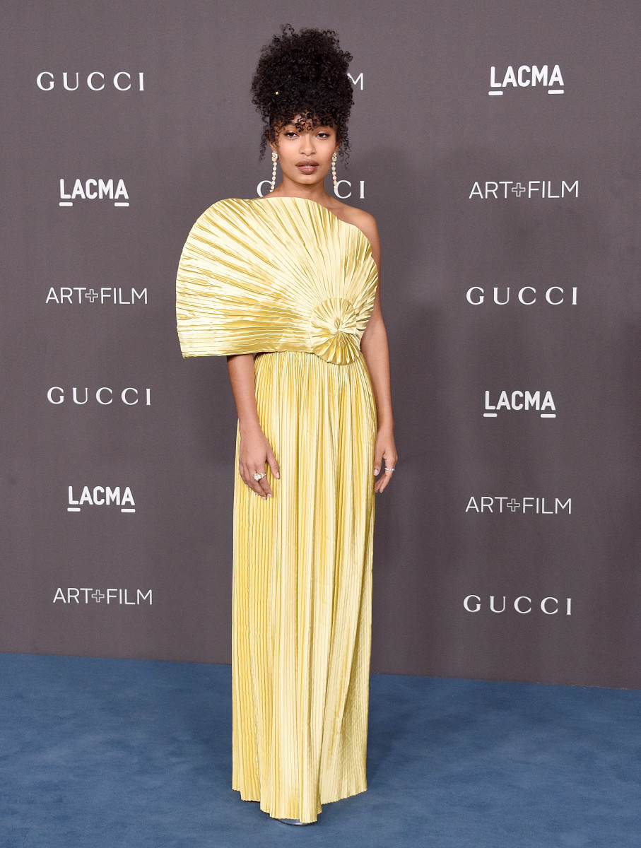 Yara Shahidi in Gucci at the 9th Annual LACMA Art + Film Gala. Photo: Gregg DeGuire/FilmMagic